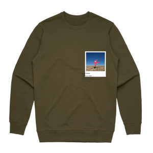 Hands All Over 07   Men's 100% Cotton Gallery Sweatshirt in Army Green / XXL by Serap Osman