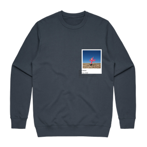 Hands All Over 07   Men's 100% Cotton Gallery Sweatshirt in Air Force Blue / XXL by Serap Osman