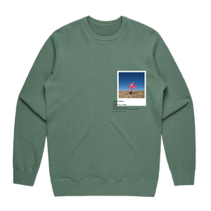 Hands All Over 07   Men's 100% Cotton Gallery Sweatshirt in Sage / XXL by Serap Osman