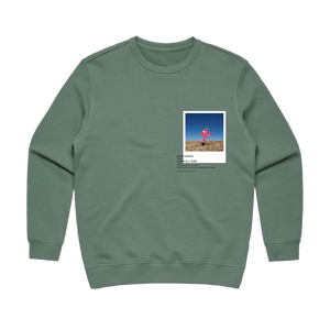Hands All Over 07   Women's 100% Cotton Gallery Sweatshirt in Sage / XL by Serap Osman