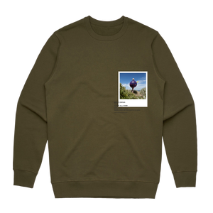 Hands All Over 08   Men's 100% Cotton Gallery Sweatshirt in Army Green / XXL by Serap Osman