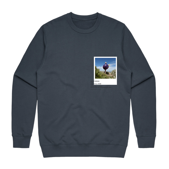Hands All Over 08   Men's 100% Cotton Gallery Sweatshirt in Air Force Blue / XXL by Serap Osman