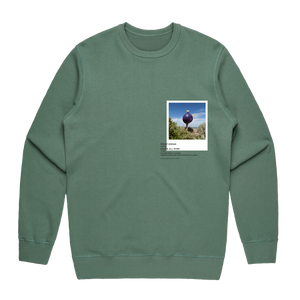 Hands All Over 08   Men's 100% Cotton Gallery Sweatshirt in Sage / XXL by Serap Osman
