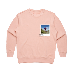 Hands All Over 08   Women's 100% Cotton Gallery Sweatshirt in Pale Pink / XL by Serap Osman