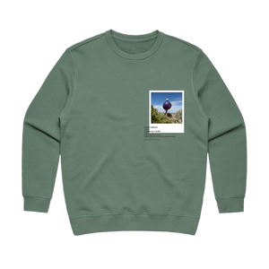 Hands All Over 08   Women's 100% Cotton Gallery Sweatshirt in Sage / XL by Serap Osman