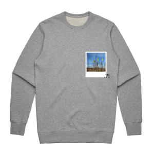 Hands All Over 09   Men's 100% Cotton Minimal Sweatshirt in Grey / XXL by Serap Osman