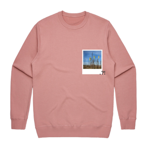 Hands All Over 09   Men's 100% Cotton Minimal Sweatshirt in Rose / XXL by Serap Osman