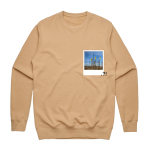 Hands All Over 09   Men's 100% Cotton Minimal Sweatshirt in Tan / XXL by Serap Osman