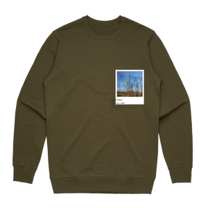 Hands All Over 09   Men's 100% Cotton Gallery Sweatshirt in Army Green / XXL by Serap Osman