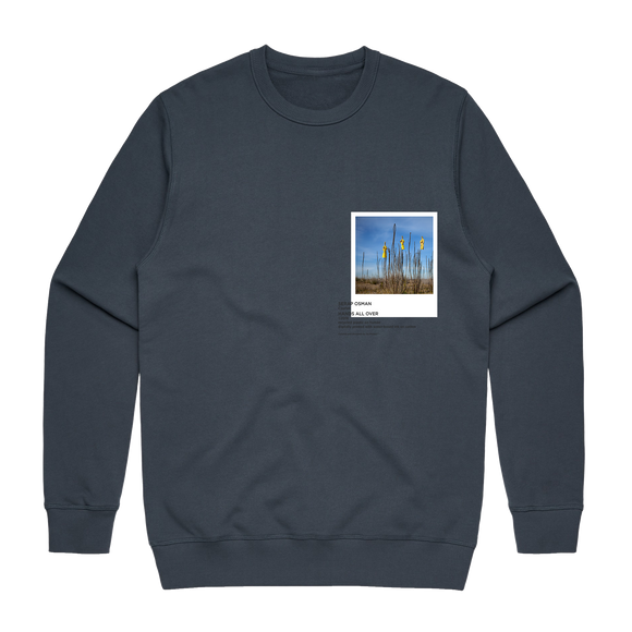 Hands All Over 09   Men's 100% Cotton Gallery Sweatshirt in Air Force Blue / XXL by Serap Osman