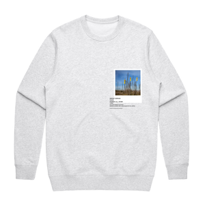 Hands All Over 09   Men's 100% Cotton Gallery Sweatshirt in Marble White / XXL by Serap Osman