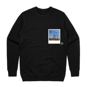 Hands All Over 09   Men's 100% Cotton Minimal Sweatshirt in Black / XXL by Serap Osman