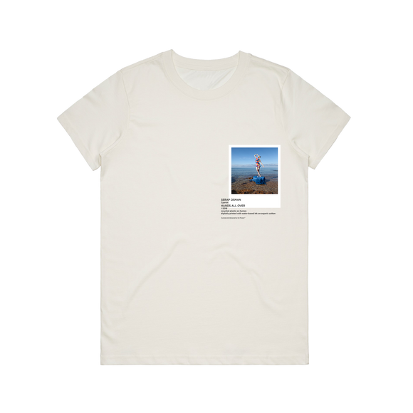 Hands All Over 11   Women's 100% Organic Cotton Gallery T-shirt in Natural / XXL by Serap Osman