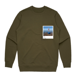 Hands All Over 11   Men's 100% Cotton Gallery Sweatshirt in Army Green / XXL by Serap Osman