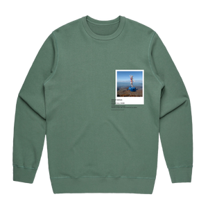 Hands All Over 11   Men's 100% Cotton Gallery Sweatshirt in Sage / XXL by Serap Osman