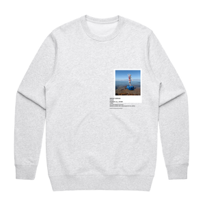 Hands All Over 11   Men's 100% Cotton Gallery Sweatshirt in Marble White / XXL by Serap Osman