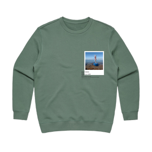Hands All Over 11   Women's 100% Cotton Gallery Sweatshirt in Sage / XL by Serap Osman