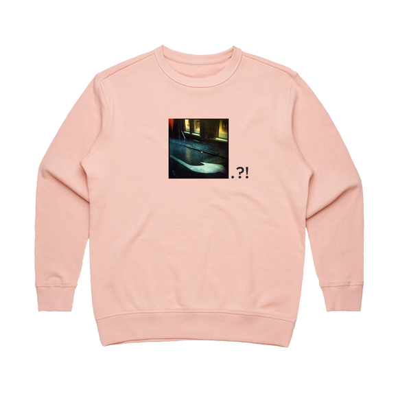 After Hours 2   Women's 100% Cotton Minimal Sweatshirt in Pale Pink / XL by Serap Osman