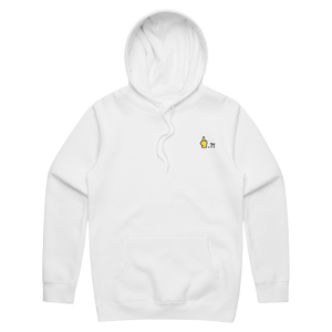 Hands All Over   Unisex Fleece Embroidered Hoodie in White / XXL by Serap Osman