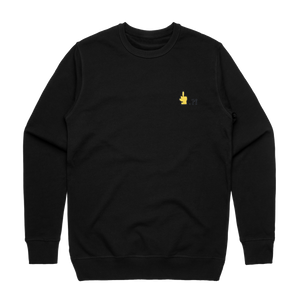 Hands All Over   Men's 100% Cotton Embroidered Sweatshirt in Black / XXL by Serap Osman