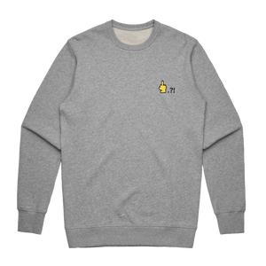 Hands All Over   Men's 100% Cotton Embroidered Sweatshirt in Grey / XXL by Serap Osman