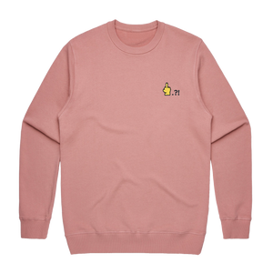 Hands All Over   Men's 100% Cotton Embroidered Sweatshirt in Rose / XXL by Serap Osman