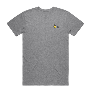 Hands All Over   Men's 100% Organic Cotton Embroidered T-shirt in Grey / XXL by Serap Osman