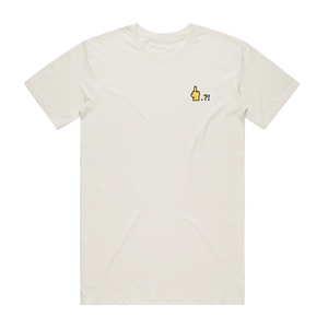 Hands All Over   Men's 100% Organic Cotton Embroidered T-shirt in Natural / XXL by Serap Osman