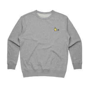 Hands All Over   Women's 100% Cotton Embroidered Sweatshirt in Grey / XL by Serap Osman