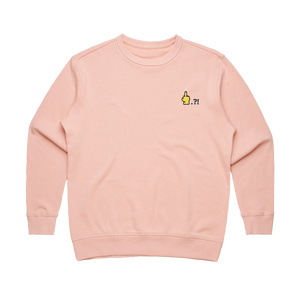 Hands All Over   Women's 100% Cotton Embroidered Sweatshirt in Pale Pink / XL by Serap Osman
