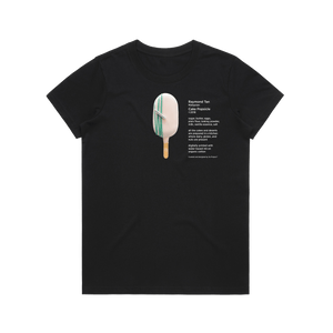 Cake Popsicle 06   Women's 100% Organic Cotton Gallery T-shirt in Black / XXL by Raymond Tan