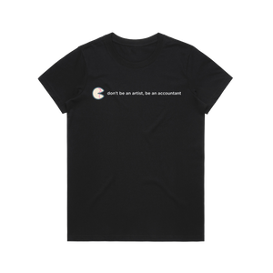 The Unfortunate Cookie 02   Women's 100% Organic Cotton T-shirt in Black / XXL by Raymond Tan