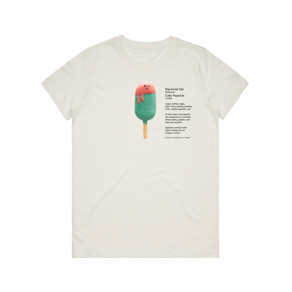 Cake Popsicle 01   Women's 100% Organic Cotton Gallery T-shirt in Natural / XXL by Raymond Tan