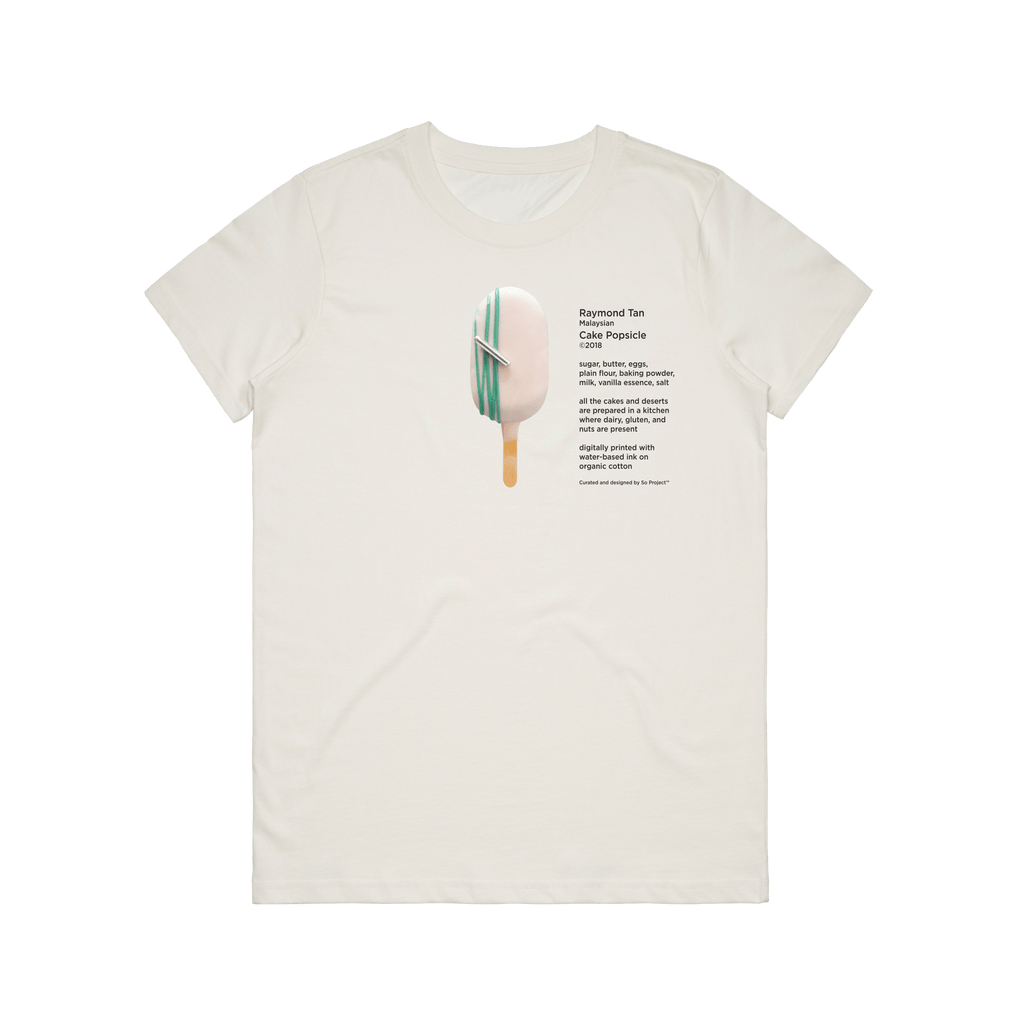 Cake Popsicle 06   Women's 100% Organic Cotton Gallery T-shirt in Natural / XXL by Raymond Tan