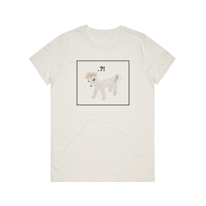 Dog With A Crown   Women's 100% Organic Cotton Minimal T-shirt in Natural / XXL by erinswindow