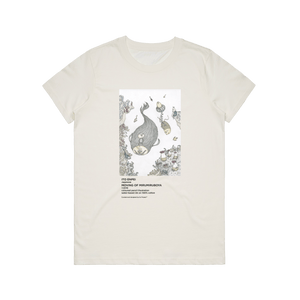 Moving Of Mirumiruboya   Women's 100% Organic Cotton Gallery T-shirt in Natural / XXL by Enpei Ito