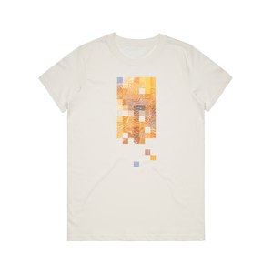 Colour Pixels   Women's 100% Organic Cotton Minimal T-shirt in Natural / XXL by Buff Diss