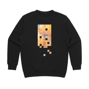 Colour Pixels   Women's 100% Cotton Minimal Sweatshirt in Black / XL by Buff Diss