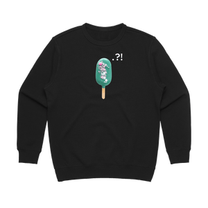 Cake Popsicle 04   Women's 100% Cotton Minimal Sweatshirt in Black / XL by Raymond Tan