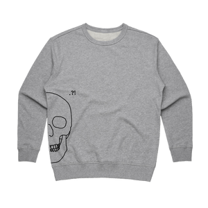 Skull   Women's 100% Cotton Minimal Sweatshirt in Grey / XL by Buff Diss