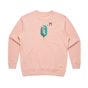 Cake Popsicle 04   Women's 100% Cotton Minimal Sweatshirt in Pale Pink / XL by Raymond Tan