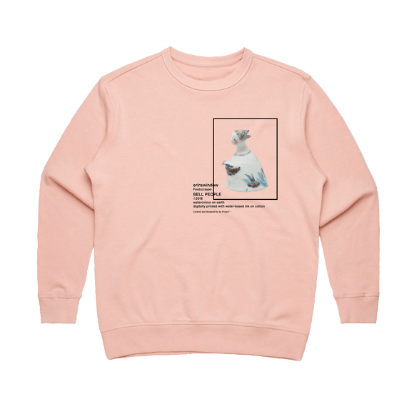 Bell People 02   Women's 100% Cotton Gallery Sweatshirt in Pale Pink / XXL by erinswindow