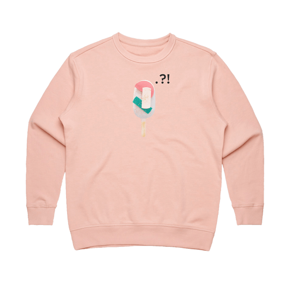 Cake Popsicle 08   Women's 100% Cotton Minimal Sweatshirt