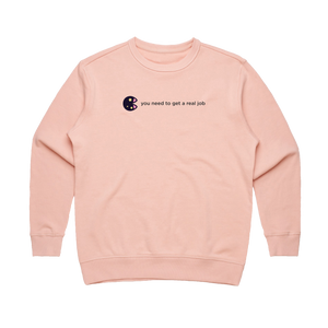 The Unfortunate Cookie 04   Women's 100% Cotton Sweatshirt in Pale Pink / XL by Raymond Tan