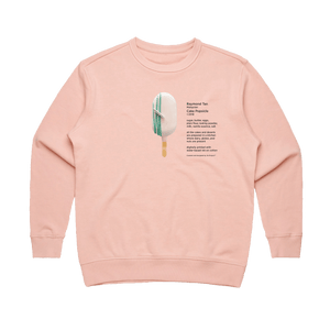 Cake Popsicle 06   Women's 100% Cotton Gallery Sweatshirt in Pale Pink / XL by Raymond Tan