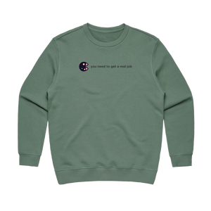 The Unfortunate Cookie 04   Women's 100% Cotton Sweatshirt in Sage / XL by Raymond Tan