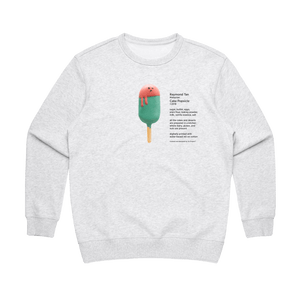 Cake Popsicle 01   Women's 100% Cotton Gallery Sweatshirt in Marble White / XL by Raymond Tan