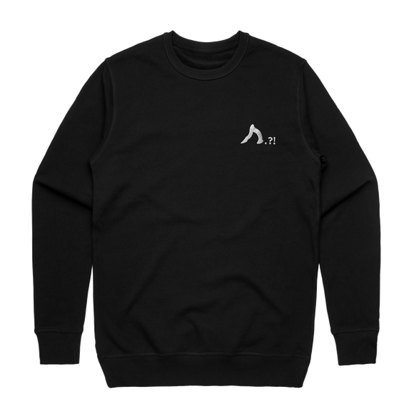 Shark   Men's 100% Cotton Embroidered Sweatshirt in Black / XXL by Yuuna Okanishi