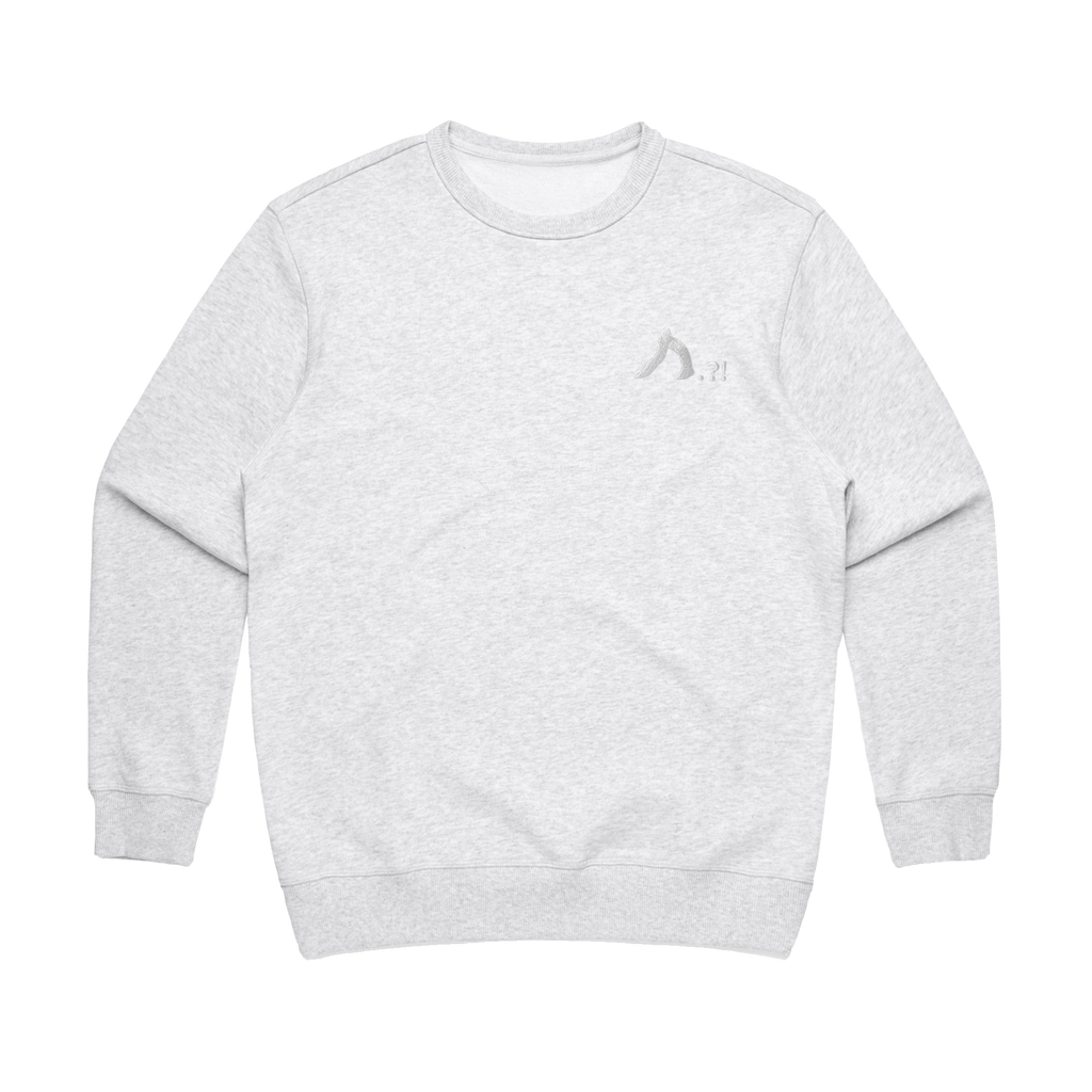 Shark   Women's 100% Cotton Embroidered Sweatshirt in Marble White / XL by Yuuna Okanishi