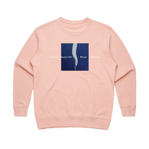 Blue Songs   Women's 100% Cotton Embroidered Sweatshirt in Pale Pink / XL by Yuuna Okanishi
